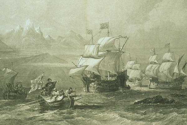 Ferdinand Photograph - Discovery Of The Straits Of Magellan In 1520 by George Bernard/science Photo Library