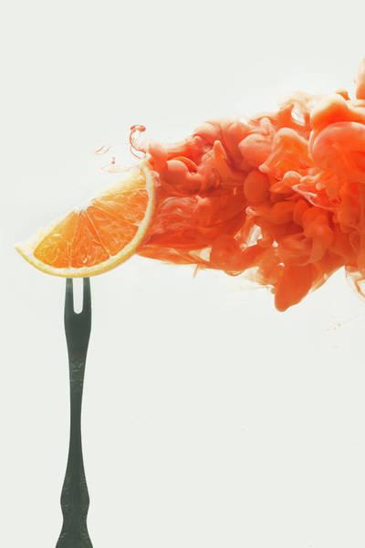 Wall Art - Photograph - Disintegrated Orange by Dina Belenko