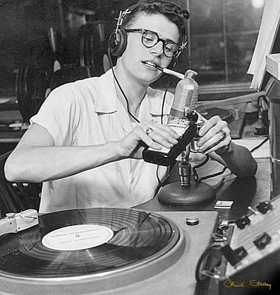 Photograph - Disk Jockey - 1949 by Chuck Staley