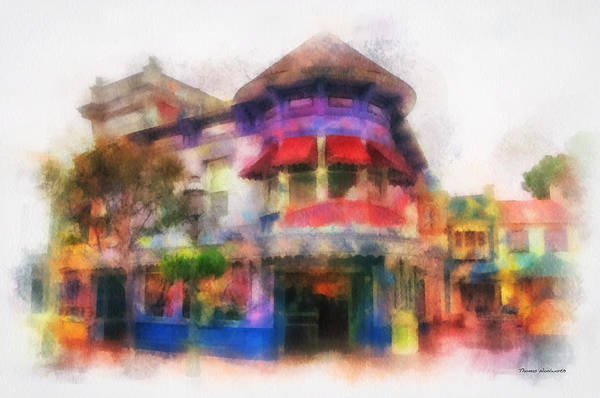 Clothier Photograph - Disney Clothiers Main Street Disneyland Photo Art 01 by Thomas Woolworth