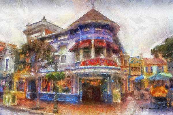 Clothier Photograph - Disney Clothiers Main Street Disneyland Photo Art 02 by Thomas Woolworth
