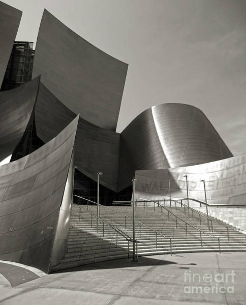Photograph - Disney Concert Hall by Gregory Dyer