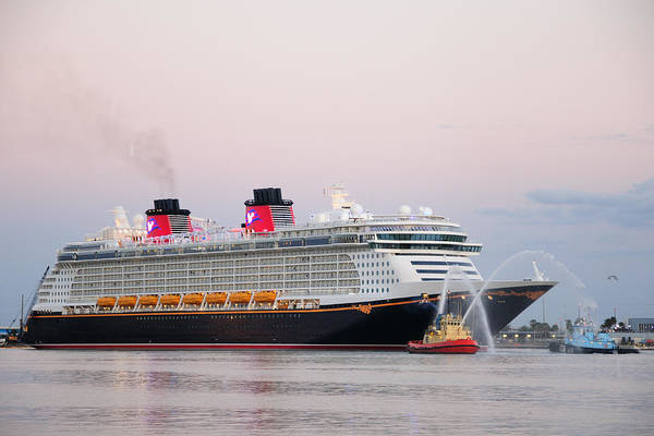 Photograph - Disney Fantasy And Water Cannons by Bradford Martin