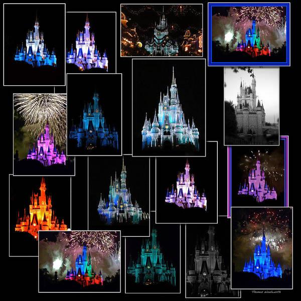 Wdw Photograph - Disney Magic Kingdom Castle Collage by Thomas Woolworth