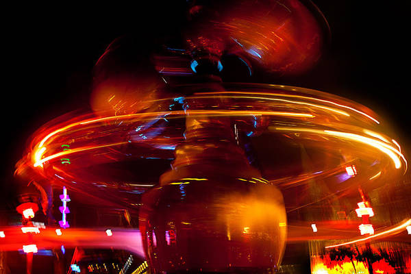 Photograph - Disneyland Rockets At Night by Denise Dube