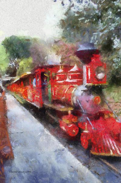 Wall Art - Photograph - Disneyland Rr Engine 4 Photo Art 02 by Thomas Woolworth