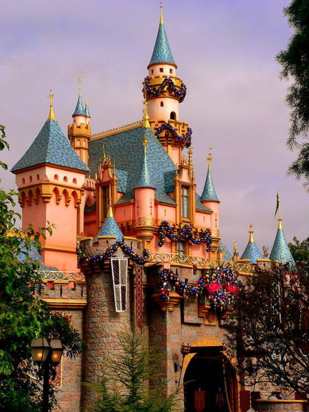 Photograph - Disneyland Sleeping Beauty Castle by Jeff Lowe