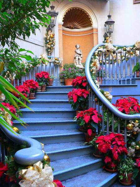 Photograph - Disneyland Staircase by Jeff Lowe