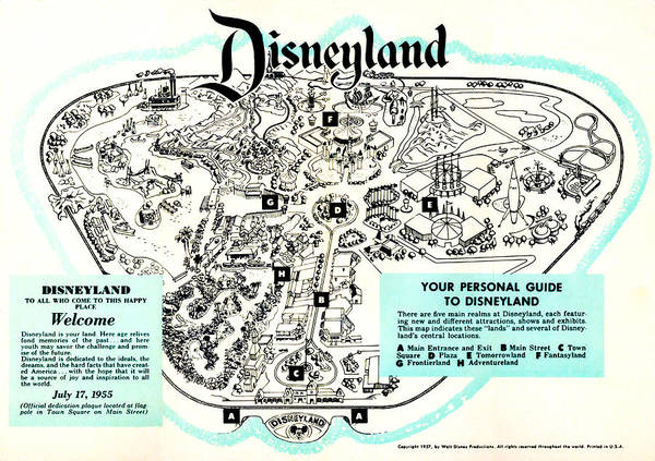 Digital Art - Disneyland Welcome Guide by Bill Cannon