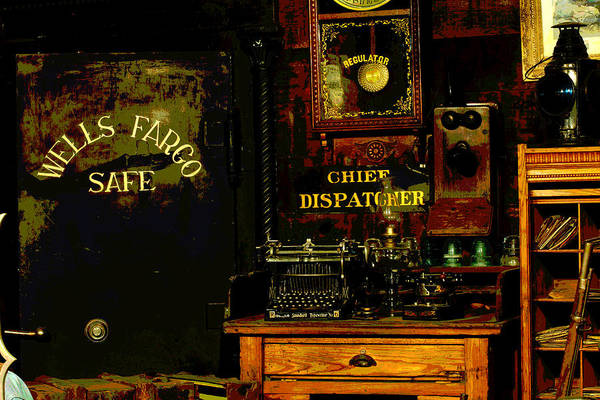 Timeworn Photograph - Dispatcher's Office by Mike Flynn