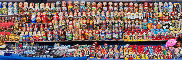 Nesting Photograph - Display Of The Russian Nesting Dolls by Panoramic Images