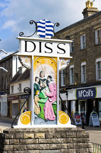 Wall Art - Photograph - Diss Sign by Tom Gowanlock