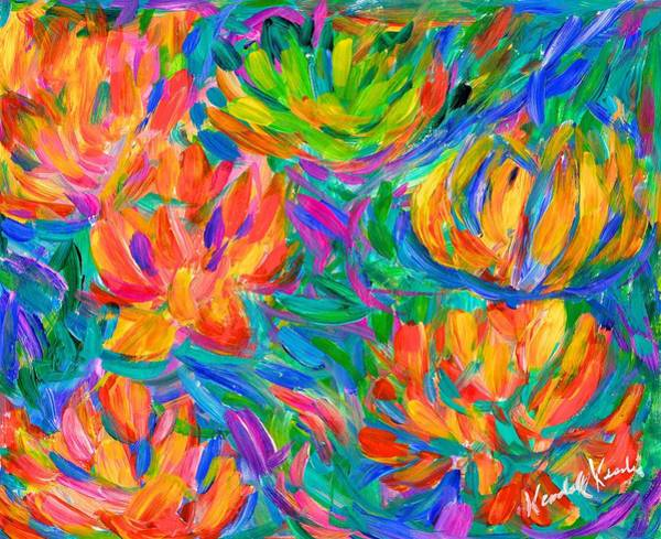 Painting - Dissolving Floral by Kendall Kessler