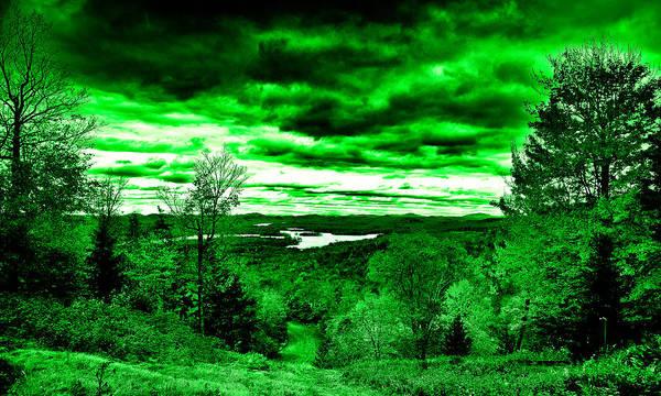 Digital Art - Distant Lakes by David Patterson