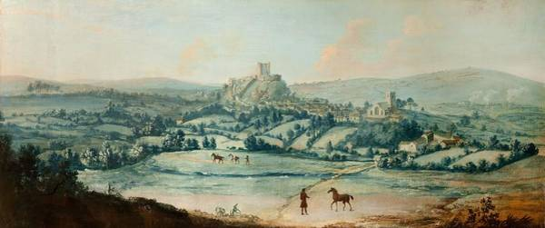 Wall Art - Painting - Distant View Of Clitheroe, C.1730 by Matthias Read