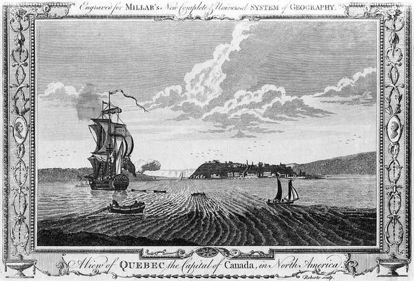 Quebec City Drawing - Distant View Of The City From  The St by Mary Evans Picture Library