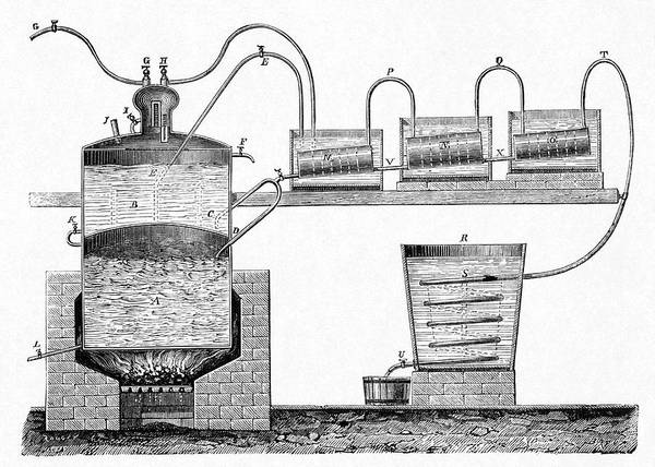 Wall Art - Photograph - Distillation Apparatus by Cci Archives