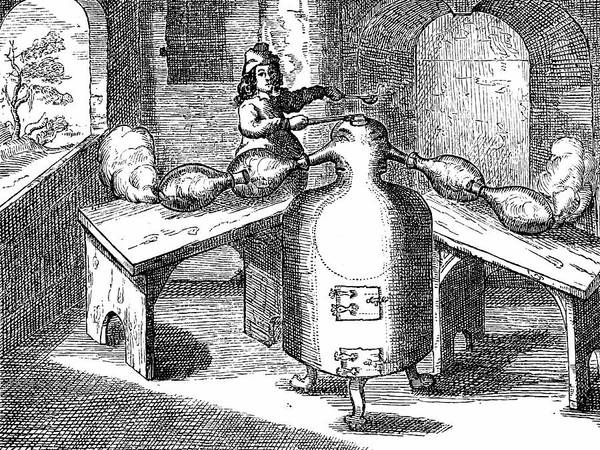 1604 Photograph - Distillation Of Nitric Acid by Universal History Archive/uig
