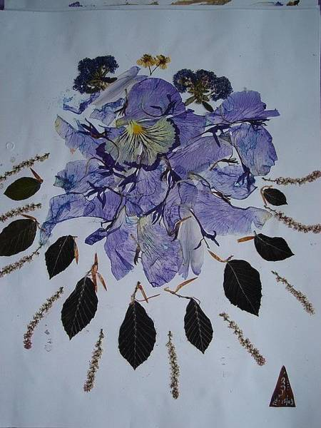 Eco Friendly Mixed Media - Distorted Flower-dream by Basant Soni