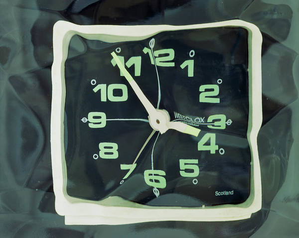Refraction Wall Art - Photograph - Distorted Image Of A Clock Face by Adrienne Hart-davis/science Photo Library