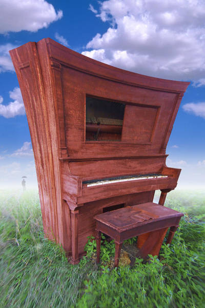 Piano Keyboard Wall Art - Photograph - Distorted Upright Piano by Mike McGlothlen