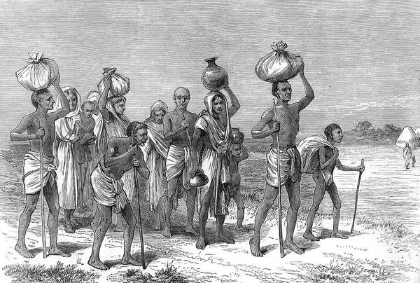 Wall Art - Drawing - Distressed Natives Carry Their by  Illustrated London News Ltd/Mar
