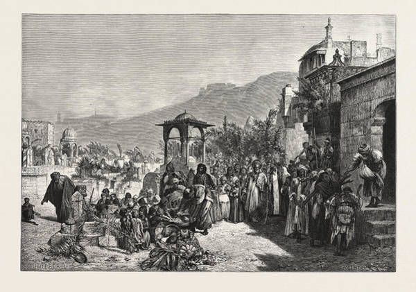Distribution Drawing - Distribution Of Dates In A Cemetery At Cairoegypt by Litz Collection