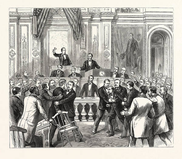 Member Of Congress Wall Art - Drawing - District Of Columbia Members Of Congress Endeavoring by American School