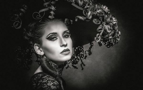 Hats Photograph - Diva by Hubert Bichler