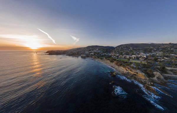 Photograph - Divers Cove Laguna Beach Aerial by Scott Campbell