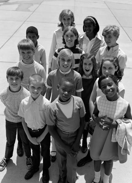 Ethnic Minority Photograph - Diverse Group Of Students, C.1960-70s by H. Armstrong Roberts/ClassicStock