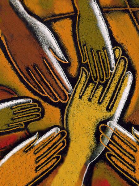 Hispanic Painting - Diversity by Leon Zernitsky