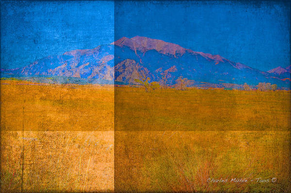 Mixed Media - Divided Land by Charles Muhle