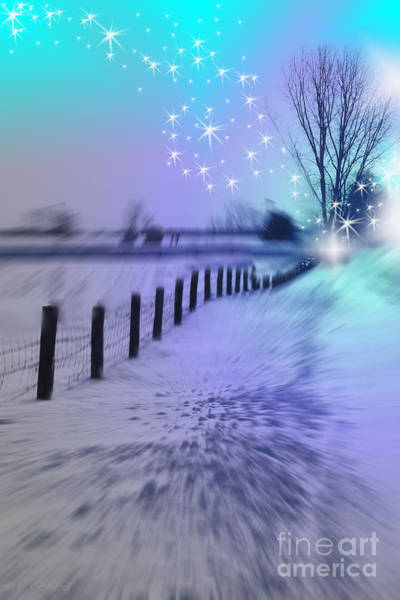 Snow Fence Digital Art - Dividing Chaos With Magic by Cathy Beharriell