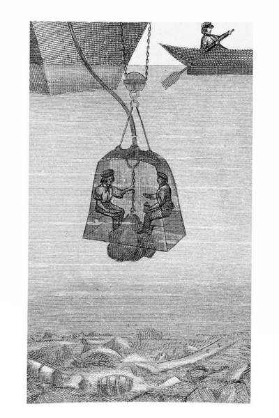 Diving Bell Photograph - Diving Bell by Us Navy/science Photo Library