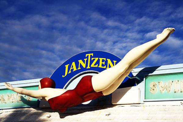 Photograph - Diving Lady Jantzen by Alice Gipson