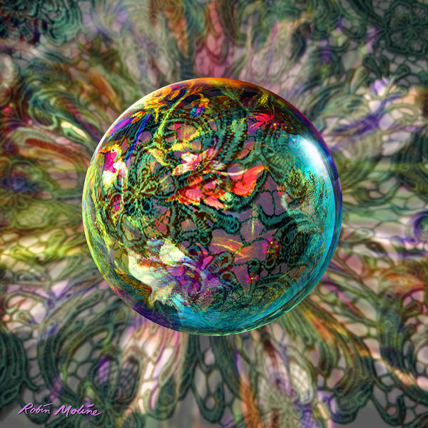 Globe Digital Art - Divining Lace by Robin Moline