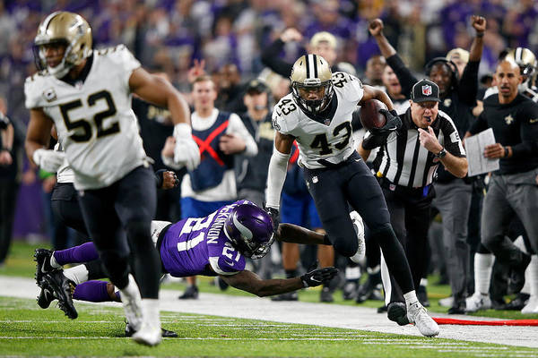 Divisional Round - New Orleans Saints V Minnesota Vikings Art Print by Jamie Squire