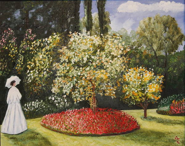 Painting - Dixie's Garden by DG Ewing