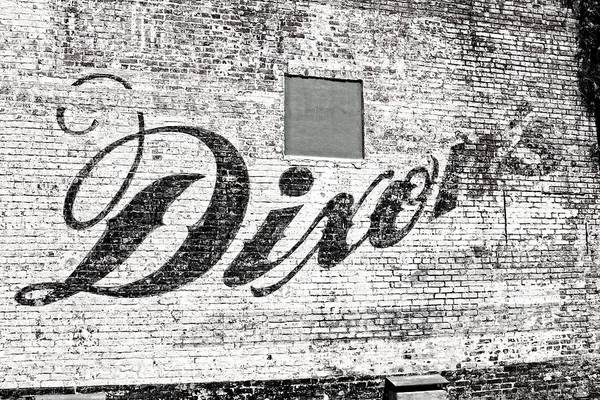 Photograph - Dixon's Wall Sign by Andy Crawford