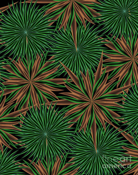 Wall Art - Digital Art - Dizzy Green Paper by Jamie Lynn