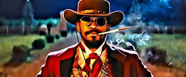 Painting - Django by Florian Rodarte