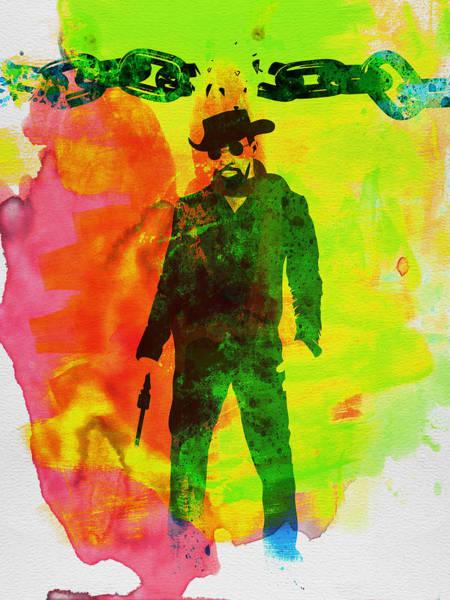 Comedy Painting - Django Unchained Watercolor by Naxart Studio