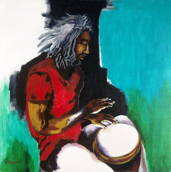 Djembe Wall Art - Painting - Djembe Jamming by Rosa D' Argent