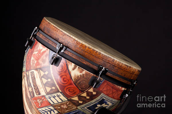 Photograph - Djembe Latin Or African Drum Photograph In Color 3331.02 by M K Miller