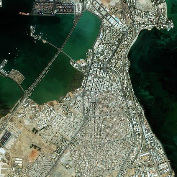 Wall Art - Photograph - Djibouti City Port by Geoeye/science Photo Library
