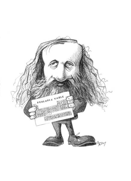 Photograph - Dmitri Mendeleev, Caricature by Science Photo Library
