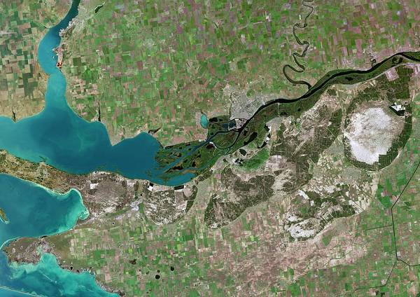Dnieper Photograph - Dnieper River Delta by Planetobserver/science Photo Library