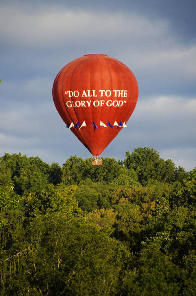 Photograph - Do All To The Glory Of God Balloon by Bill Cannon