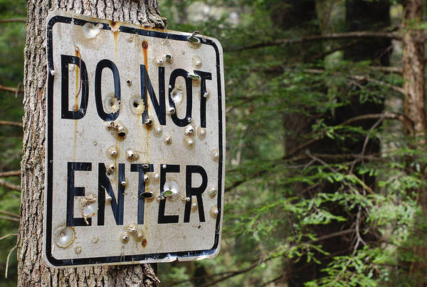 Photograph - Do Not Enter by Terry DeLuco